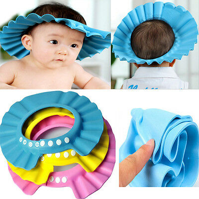 Baby Kids Children Bath Shampoo Cap Hat Hair Washing Shield Protection popular