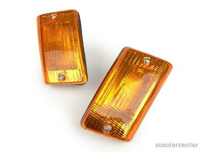 Blinker Vespa Set 2 PK 50 80 125 XL Lusso Automatik hinten Glas Orange