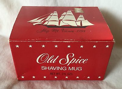 NEW Vintage Shulton Old Spice Shaving Mug Ship Mt. Vernon 1798
