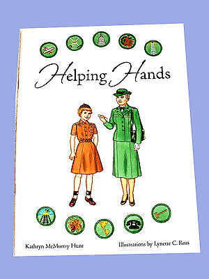 NEW Paper Dolls BOOK, HELPING HANDS Girl Scout Resource History Informatio GIFT