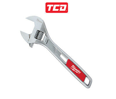 Milwaukee Adjustable Wrench - Non Back Off Wide Jaw Thin Head - 150mm to 380mm
