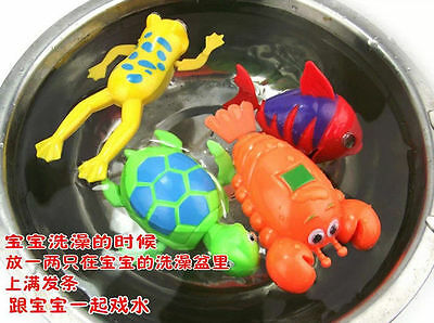 Swimming Frog Pool Bath Cute Toy Wind-Up Swim Frogs Kids Toy