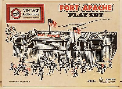 SUPERSIZED Marx Fort Apache Playset No. 4501 - Mint In Box with Plastic Fort
