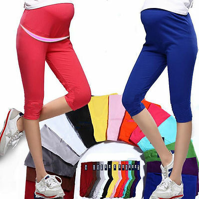 Capris Maternity Leggings Pregnant Women Cotton Comfortable Elastic 7 Pant