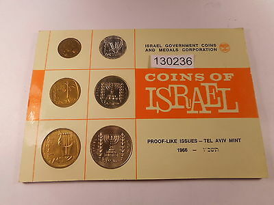 1966 Coins of Israel Tel Aviv Mint - Original Card - Nice Collectible - # 130236