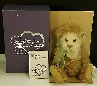 """Caramel & Cream Mohair Teddy Bear Annette Funicello 13"""" MIB w/ Papers"""
