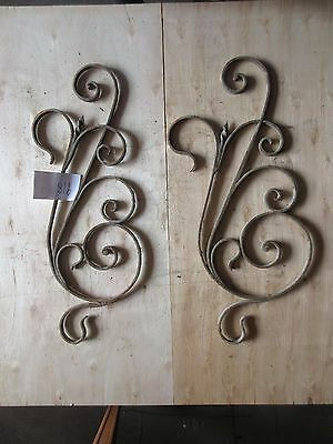 Antique Victorian Iron Gate Window Garden Fence Architectural Salvage #918