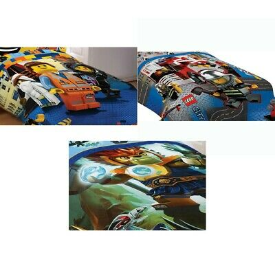 nEw LEGO CHARACTERS BED COMFORTER - City Movie Chima Bedding Blanket Cover