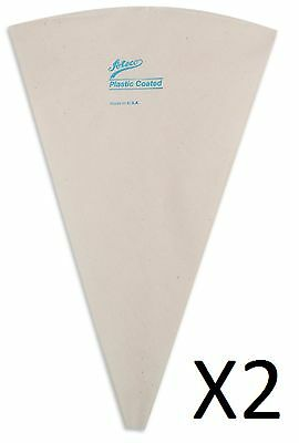"""Ateco 12"""" Pastry Bag Cake Decorating Frosting/Icing Harold Import 2312 (2-Pack)"""