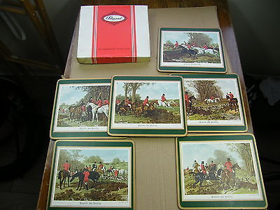 Vintage Fox Hunting Place Mats,by PIMPERNEL 6 medium..(lot C)