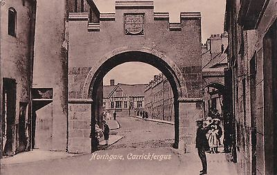 northern ireland postcard ulster irish co. antrim carrickfergus