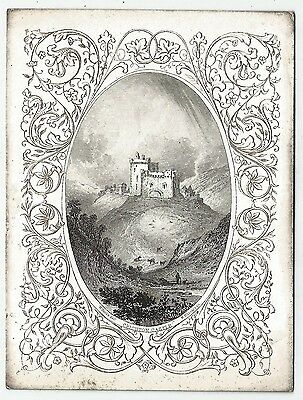 scotland scottish crichton castle engraving w h lizars edinburgh and w banks