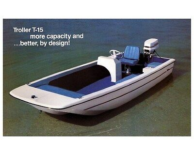 1983 Troller T-15 Power Boat Factory Photo ud3753