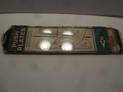 One Vintage  Glass--Door  Push Plate