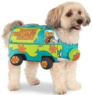Mystery Machine Van Scooby-Doo Hippie Fancy Dress Halloween Pet Dog Cat Costume