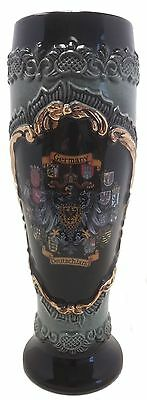 Black Wheat Beer Mug with Gold Relief German Beer Stein .5L Made in Germany