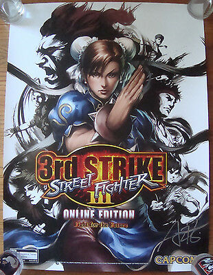 ARTGERM SDCC 2011 STREET FIGHTER 3rd Strike Online Capcom Poster signed RARE