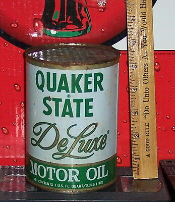 Quaker State Oil Can Full Great Overall Condition