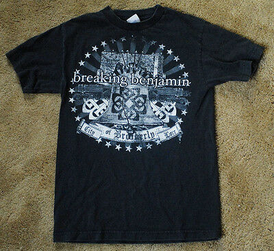 BREAKING BENJAMIN City of Brotherly Love PHILLY 2007 black short sleeve t shirt