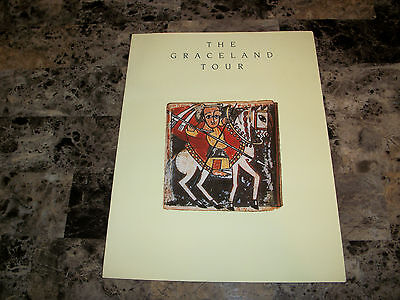 Paul Simon Rare Original Graceland 1987 Tour Book Program Great Condition REAL
