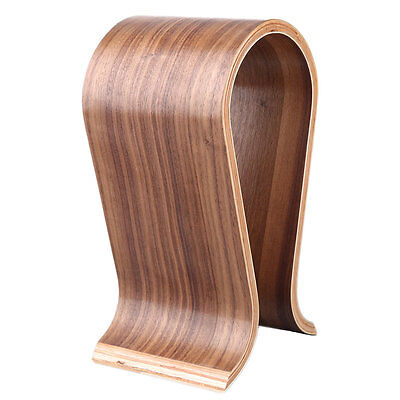 New U-Shaped Wooden Headphone Display Stand Holder for Universal Headset LKAN