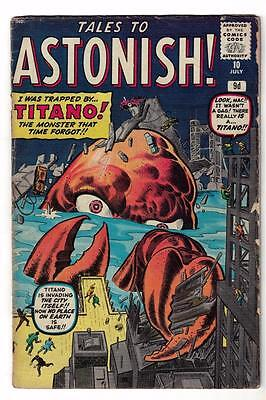 Marvel Comics VG #10  4.0 KIRBY TALES TO ASTONISH 1959 Trapped by Titano