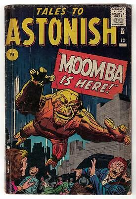 Marvel Comics VG #23 3.5 KIRBY TALES TO ASTONISH 1960 MOOMBA