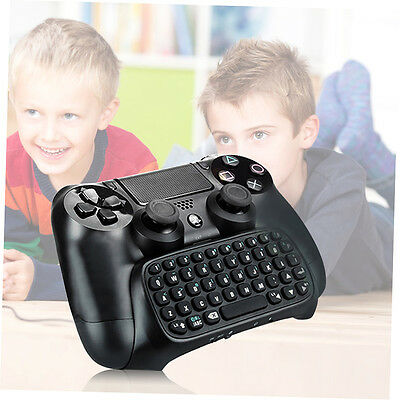 3.5mm Plug Black Mini Wireless Chatpad Message Keyboard for PS4 Controller LKAN