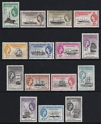 Falkland Island Deps 1954 set of 15 - clean & fresh lightly mounted mint £225