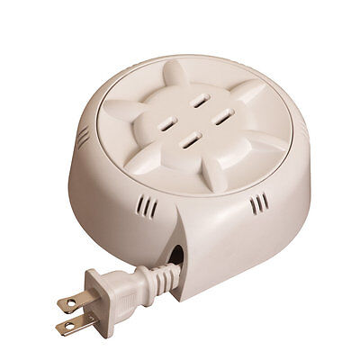 Collections Etc Retractable Extension Cord with Two Sockets