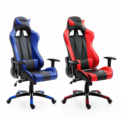 Ergonomic Gaming Racing Chair High Back Office Executive Computer PU Leather