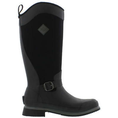 Muck Boots Reign Tall Womens Black Brown Riding Wellington Boots Size UK 4-8