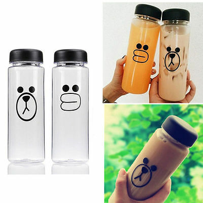 500ML Plastic Fruit Juice 2016 Clear Cup Travel Bottle Sport My Bottle Water