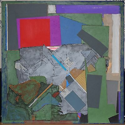 JACK SHORE RCA ORIGINAL SIGNED MIXED MEDIA COLLAGE PAINTING (new to market)