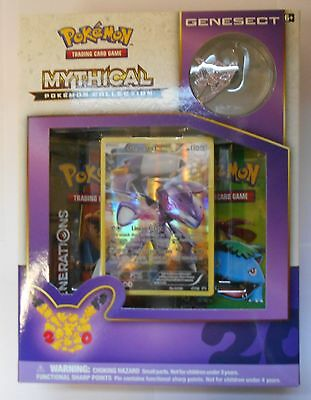 POKEMON Genesect Mythical Collection Pin NEW foil card Boosters NEW