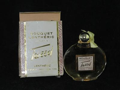 Vintage BOUQUET LENTHERIC TWEED Perfume 9.5grm FULL AND UNOPENED in BOX 1960s