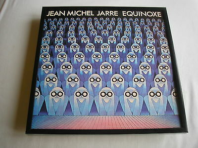 JEAN MICHEL JARRE Equinoxe LP cover framed for wall mounting black/silver/walnut