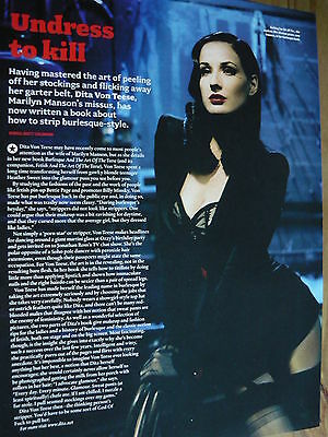 Dita Von Teese - Magazine Cutting (Full Page Article) (Ref 1T)