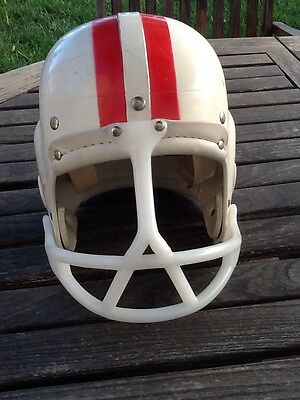 Vintage Old Unusual Spitter Face Guard Mask  Football Helmet W/T Canvas Harness