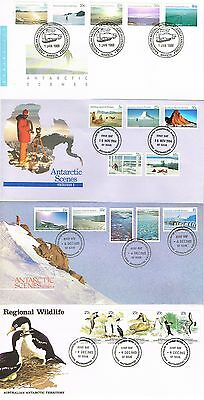Australian Antarctic Territory - 11 First Day Covers (3 Scans)