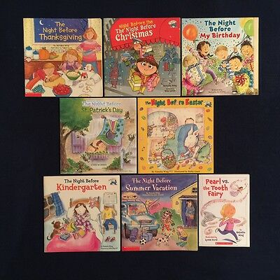Lot of 8 Children's Picture Books by Natasha Wing: Night Before ... Series PBs