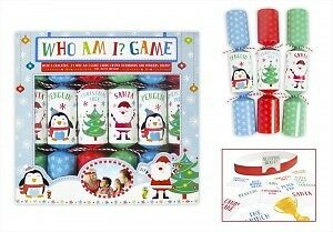 Christmas Crackers Pack of 6 Kids Who Am I game Gifts Games Xmas Table Party