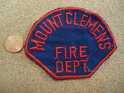 Vintage Mount Clemens Ohio Fire Department Patch New Old Stock