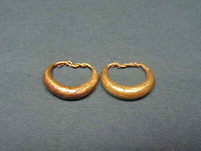 Ancientgold Earrings Greco-Roman 200 Bc-100 Ad