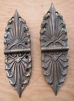 "2 Rare Antique Door/cabinet Hinges . 7"" Long • CAD $162.54"