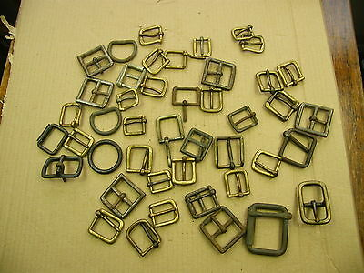 "Vintage Brass & Steel Buckles, for crafts & Leatherwork, job lot... lot ""C"".."