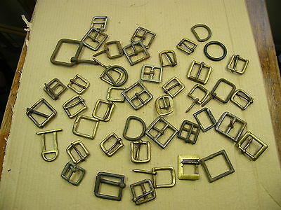 "Vintage Brass & Steel Buckles, for crafts & Leatherwork, job lot... lot ""D"".."