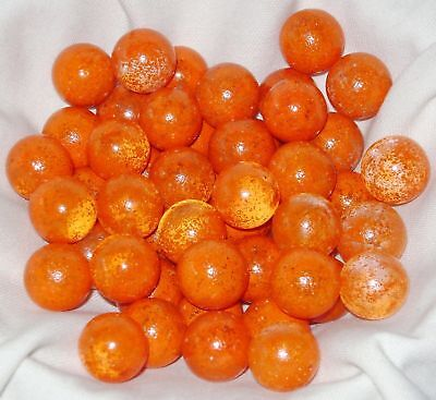 NEW 50 VENUS 16mm ORANGE GLASS MARBLES TRADITIONAL GAME or COLLECTORS ITEMS HOM