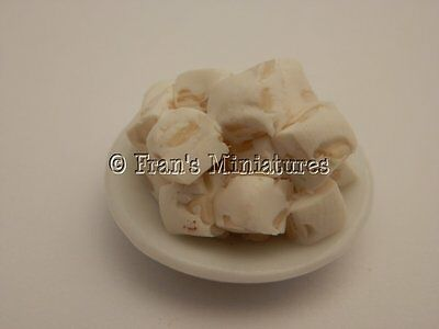 Dolls house food: Dish of nutty French nougat   -By Fran