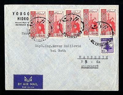 13739-LEBANON-AIRMAIL COVER BEYROUTH to GERMANY.1960.Enveloppe Liban.LIBANO.